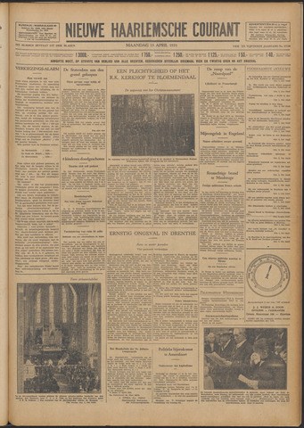 Nieuwe Haarlemsche Courant 1931-04-13