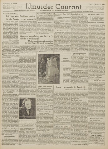 IJmuider Courant 1948-01-12