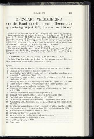 Raadsnotulen Heemstede 1972-06-29