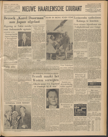 Nieuwe Haarlemsche Courant 1960-09-05