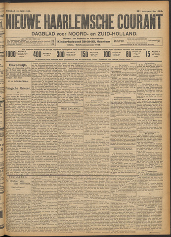 Nieuwe Haarlemsche Courant 1908-06-16