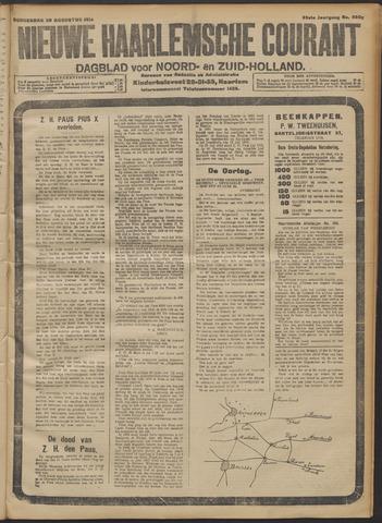 Nieuwe Haarlemsche Courant 1914-08-20