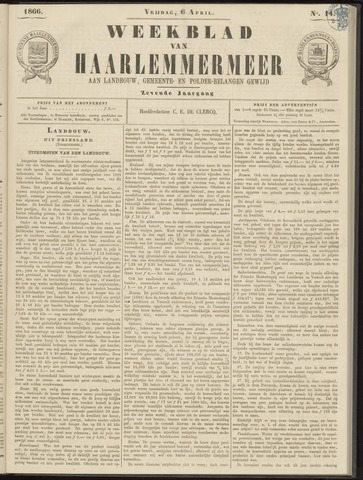Weekblad van Haarlemmermeer 1866-04-06