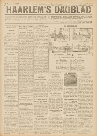 Haarlem's Dagblad 1926-04-17