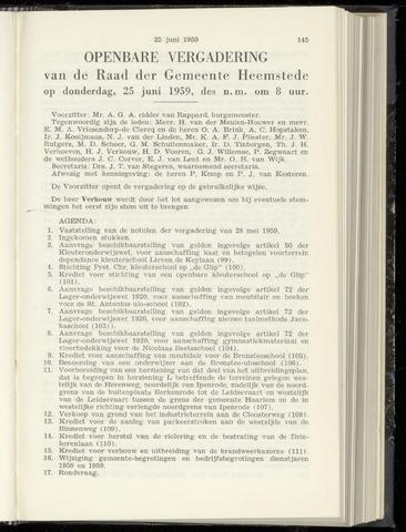 Raadsnotulen Heemstede 1959-06-25