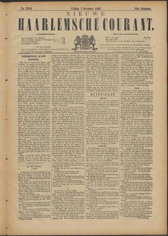 Nieuwe Haarlemsche Courant 1893-11-03