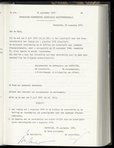 Raadsnotulen Heemstede 1975-09-25