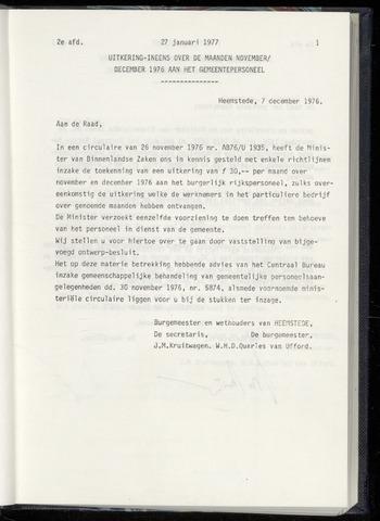 Raadsnotulen Heemstede 1977-01-27