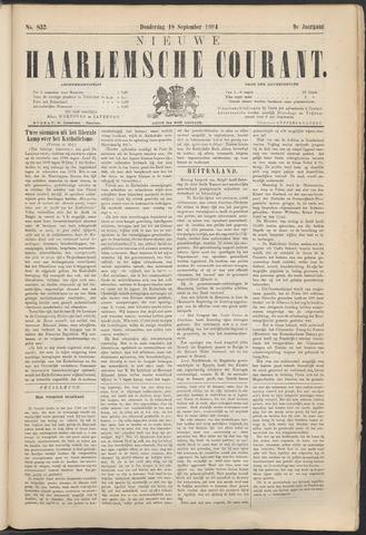 Nieuwe Haarlemsche Courant 1884-09-18