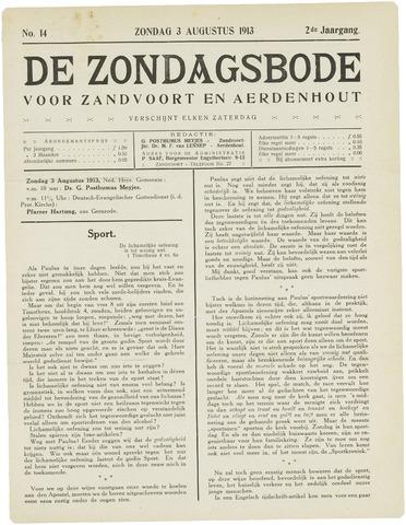 De Zondagsbode voor Zandvoort en Aerdenhout 1913-08-03
