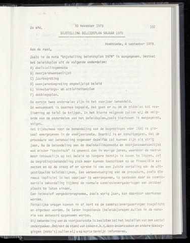 Raadsnotulen Heemstede 1979-11-30