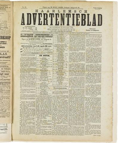Haarlemsch Advertentieblad 1882-11-25