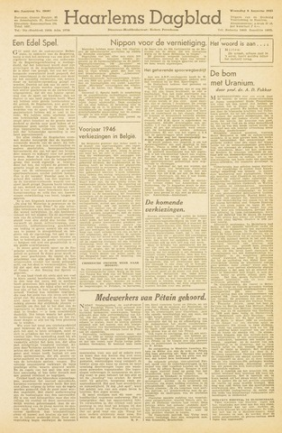 Haarlem's Dagblad 1945-08-08