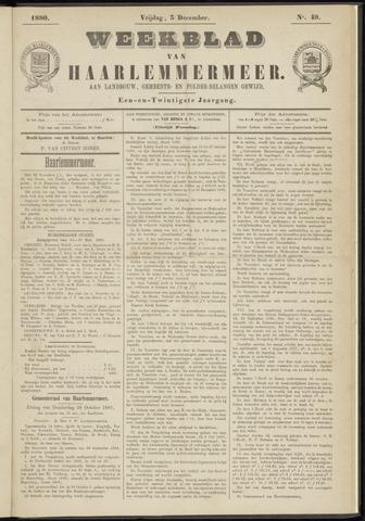 Weekblad van Haarlemmermeer 1880-12-03