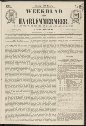 Weekblad van Haarlemmermeer 1863-03-20