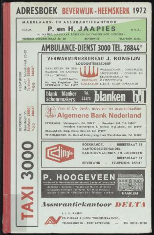 Adresboeken Beverwijk, Heemskerk 1972-01-01