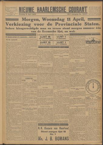 Nieuwe Haarlemsche Courant 1923-04-10