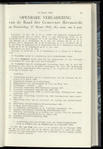 Raadsnotulen Heemstede 1952-03-27