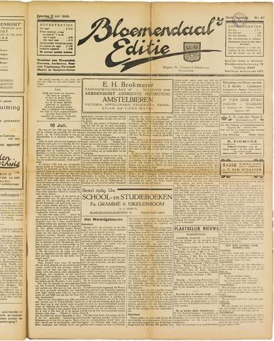 Bloemendaal's Editie 1928-07-21