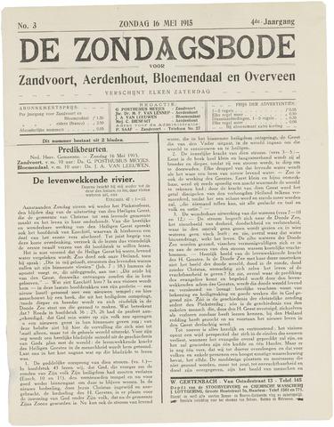De Zondagsbode voor Zandvoort en Aerdenhout 1915-05-16