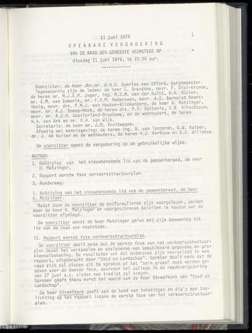 Raadsnotulen Heemstede 1974-06-11