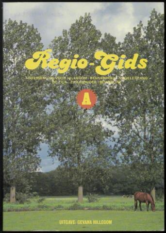 Adresboeken Hillegom, Bennebroek, Vogelenzang, De Zilk, Zwaanshoek, Beinsdorp 1990