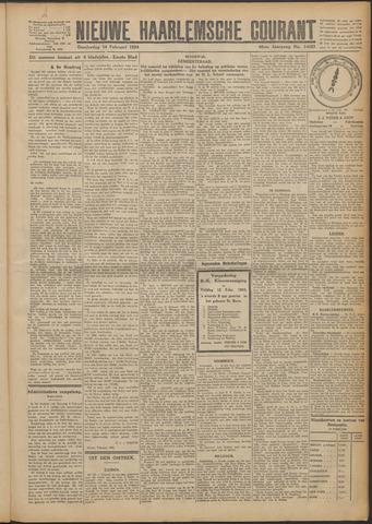 Nieuwe Haarlemsche Courant 1924-02-14