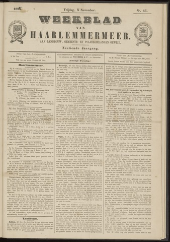 Weekblad van Haarlemmermeer 1875-11-05