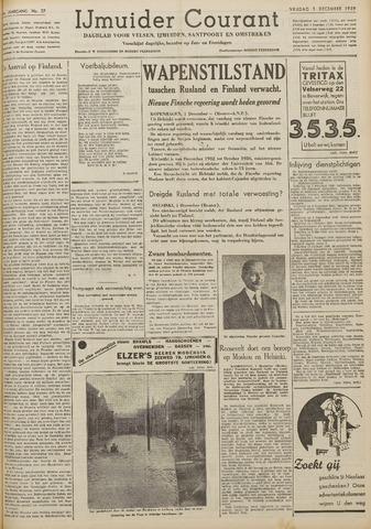 IJmuider Courant 1939-12-01