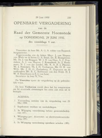 Raadsnotulen Heemstede 1950-06-29