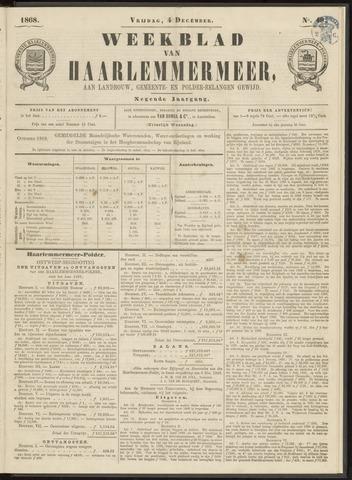 Weekblad van Haarlemmermeer 1868-12-04