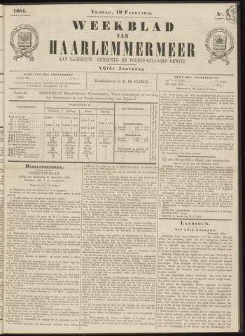 Weekblad van Haarlemmermeer 1864-02-19