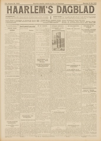 Haarlem's Dagblad 1926-05-10