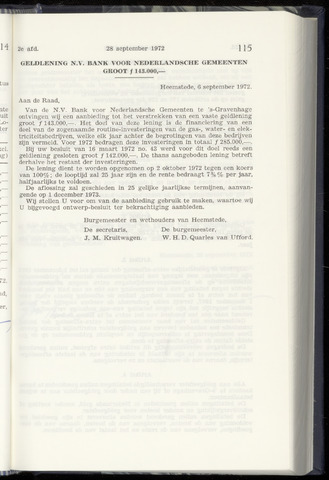 Raadsnotulen Heemstede 1972-09-28
