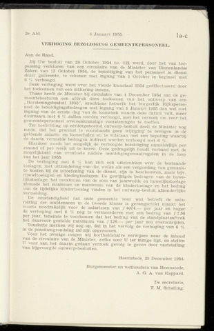 Raadsnotulen Heemstede 1955-01-06
