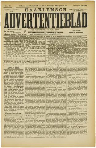 Haarlemsch Advertentieblad 1898-04-13