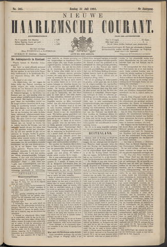 Nieuwe Haarlemsche Courant 1881-07-31