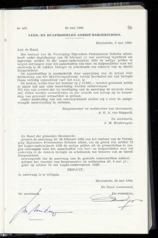 Raadsnotulen Heemstede 1968-05-30