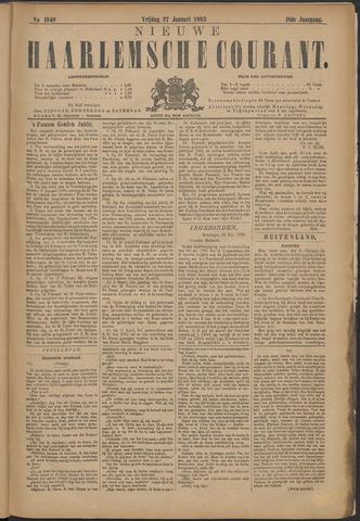 Nieuwe Haarlemsche Courant 1893-01-27