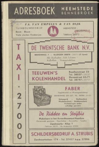 Adresboeken Heemstede, Bennebroek 1951