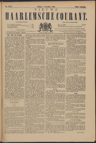 Nieuwe Haarlemsche Courant 1895-11-01