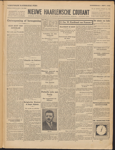 Nieuwe Haarlemsche Courant 1932-09-01