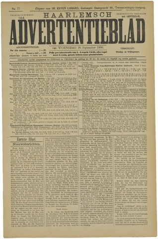 Haarlemsch Advertentieblad 1900-09-26