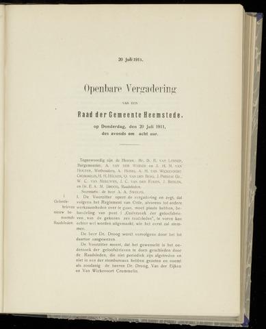Raadsnotulen Heemstede 1911-07-20
