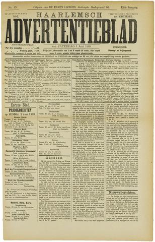 Haarlemsch Advertentieblad 1889-06-01