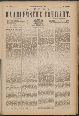 Nieuwe Haarlemsche Courant 1886-10-28