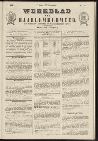 Weekblad van Haarlemmermeer 1872-11-22