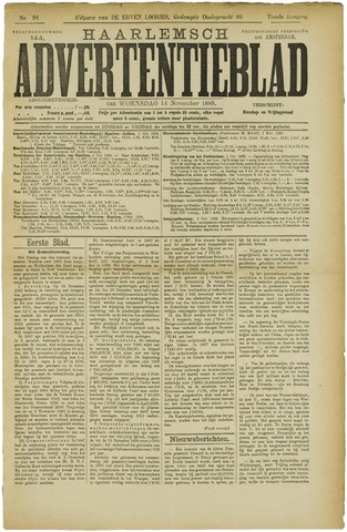 Haarlemsch Advertentieblad 1888-11-14