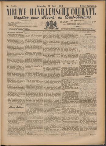 Nieuwe Haarlemsche Courant 1903-06-27