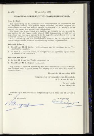 Raadsnotulen Heemstede 1962-11-30